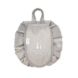 TIMESWOOD Women Drawstring Travel Cosmetic Makeup Bag Organizer Case Storage Pouch Toiletry Beauty Kit Box Gray 1 pc