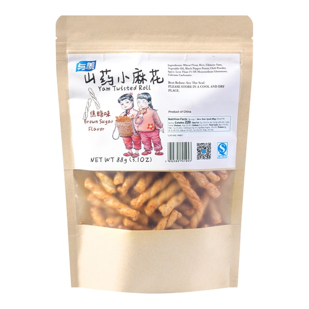 YUMEI YAM Twisted  Roll Brown Sugar Flavor  88g