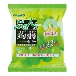 【日本直邮】DHL直邮3-5天到 日本ORIHIRO 低卡蒟蒻果冻 青葡萄味 6枚装