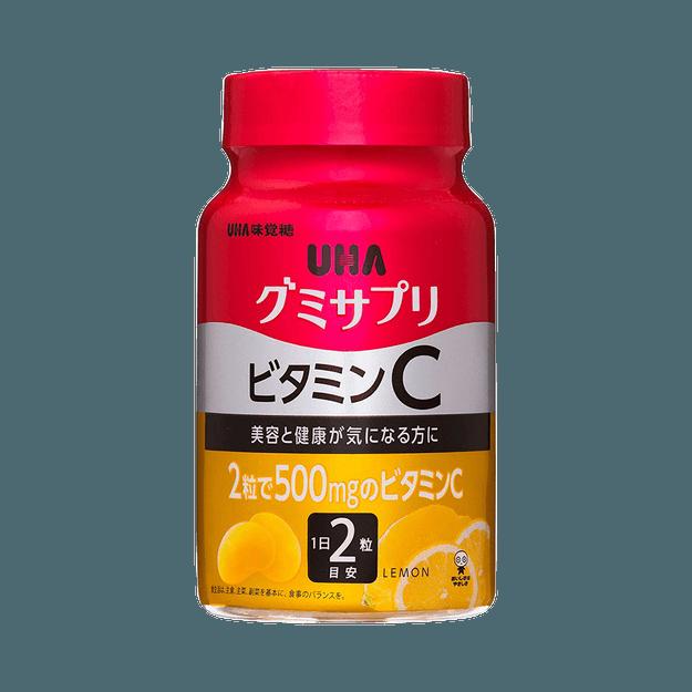 商品详情 - UHA 味觉糖||提高免疫力美白维生素C软糖||柠檬味 30日量 60粒/瓶 - image  0