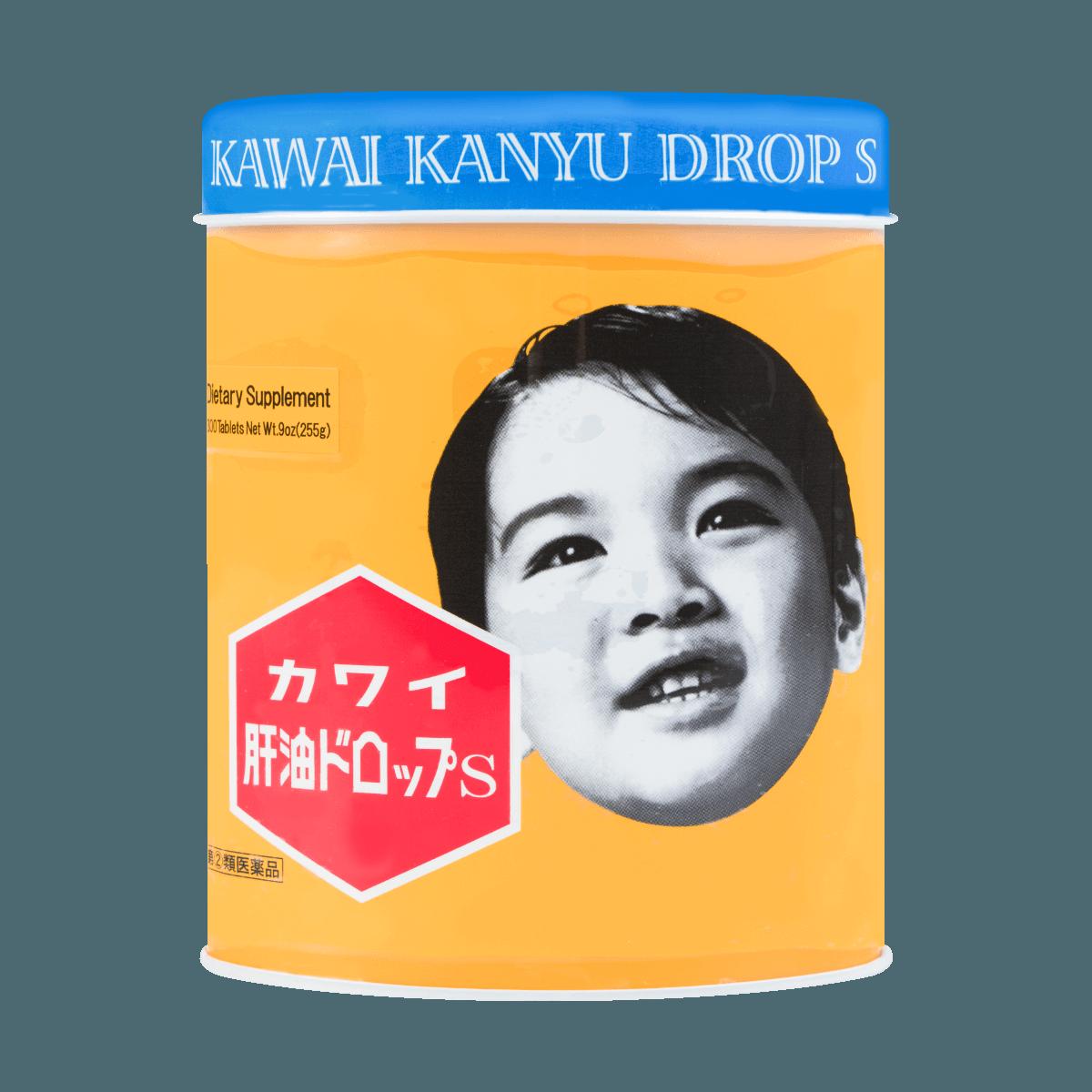 日本KAWAI 可咀嚼肝油丸维生素A&D鱼肝油 300粒 255g 怎么样 - 亚米网
