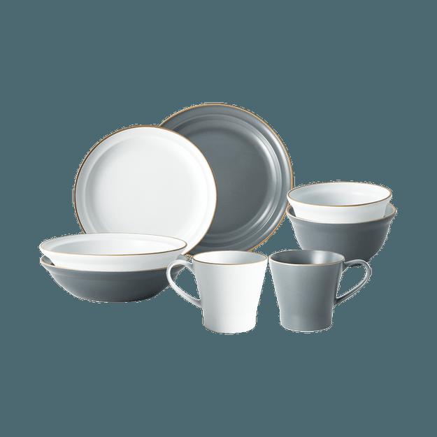 商品详情 - 网易严选灰白系列餐具套装 灰白系列 二人食八件套 - image  0