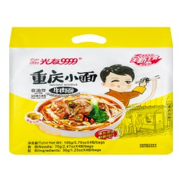 GUANGYOU Spicy Hot Noodles Artificial Beef Flavor 420g