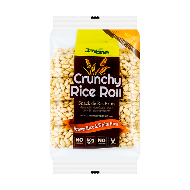Product Detail - JAYONE Crunchy Rice Roll Brown & White Rice 100g - image 0