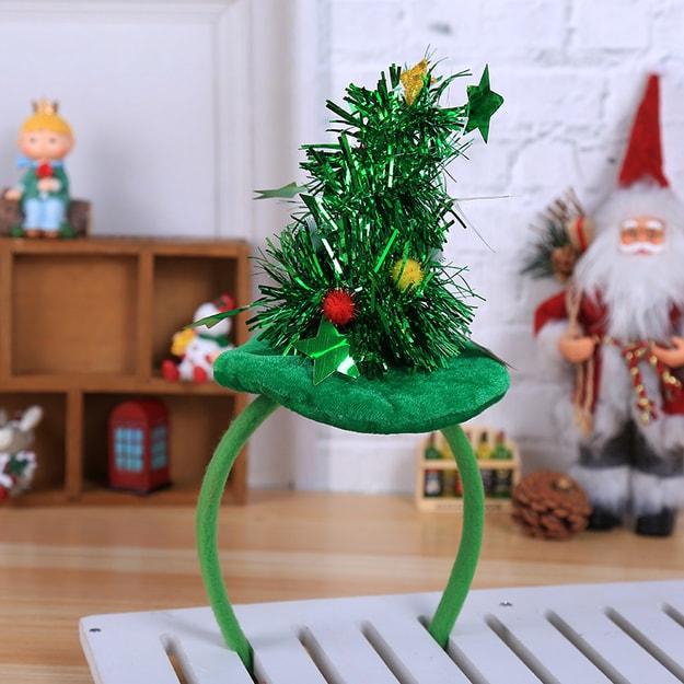 商品详情 - 中国直邮 TIMESWOOD圣诞节发饰头箍五星圣诞树发箍 绿色 1件 - image  0