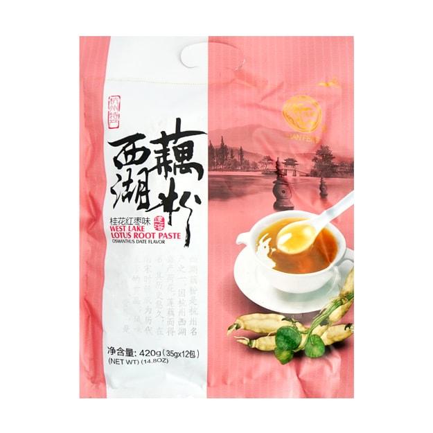 商品详情 - 莲峰 西湖藕粉 桂花红枣味 420g - image  0