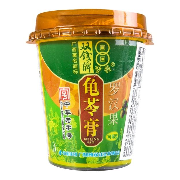 商品详情 - 双钱牌 可吸型龟苓膏 罗汉果味 210g 中华老字号 - image  0