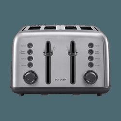BUYDEEM DT-6B83S 4-Slice Teal Stainless Steel Vintage Toaster 1pc