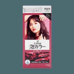日本KAO花王 LIESE PRETTIA 泡沫染发剂 #深玫瑰 单组入