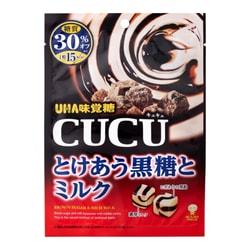 【日本直邮】DHL直邮3-5天到 UHA悠哈味觉糖 CUCU 黑糖牛奶糖 糖质30%OFF 80g