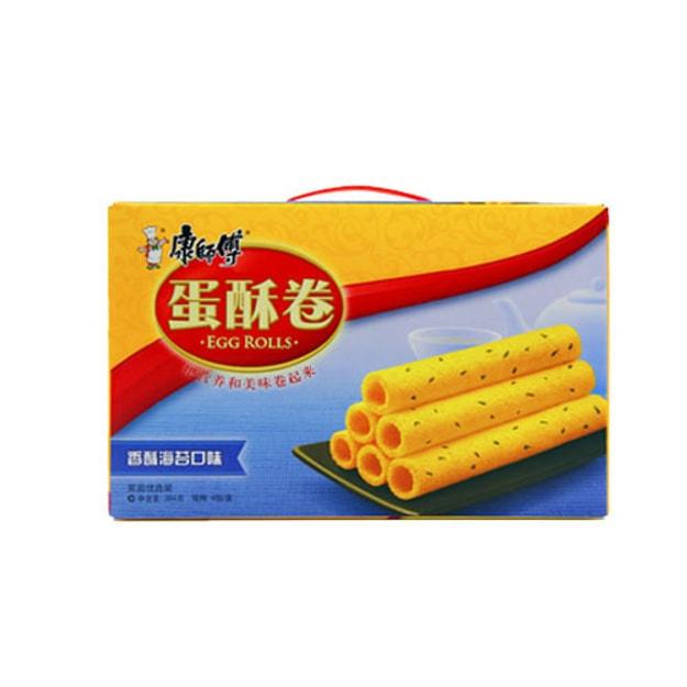商品详情 - 康师傅 蛋酥卷 香酥海苔口味 家庭优选装 384g - image  0