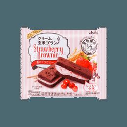 【樱花季限定】日本名菓 朝日ASAHI系列食品 浆果草莓布朗尼玄米夹心饼干 70g
