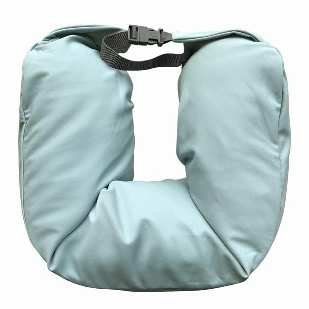 商品详情 - 苏宁极物 日式多功能颈枕针织款 碧蓝色 - image  0