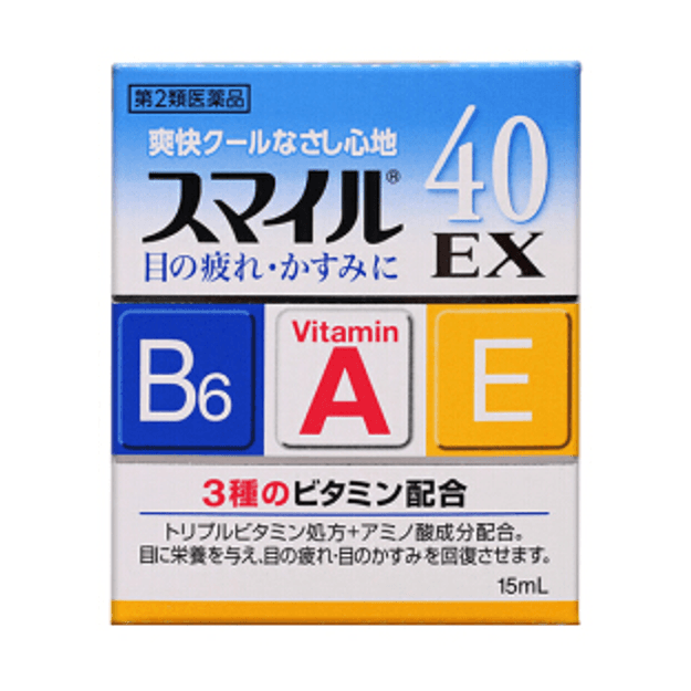 Product Detail - LION Smile 40EX Eye Drops 15ml - image 0