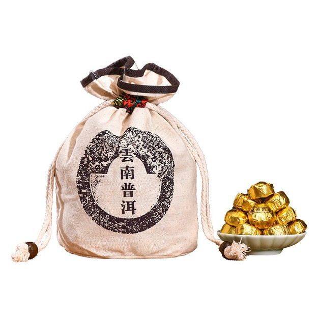 商品详情 - 中国直邮 喜乐坊 普洱茶小金沱小沱茶糯米香陈年熟茶 1000克 - image  0