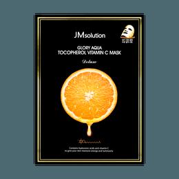 JM SOLUTION Glory Aqua Tocopherol Vitamin C Mask Deluxe 10 Sheets