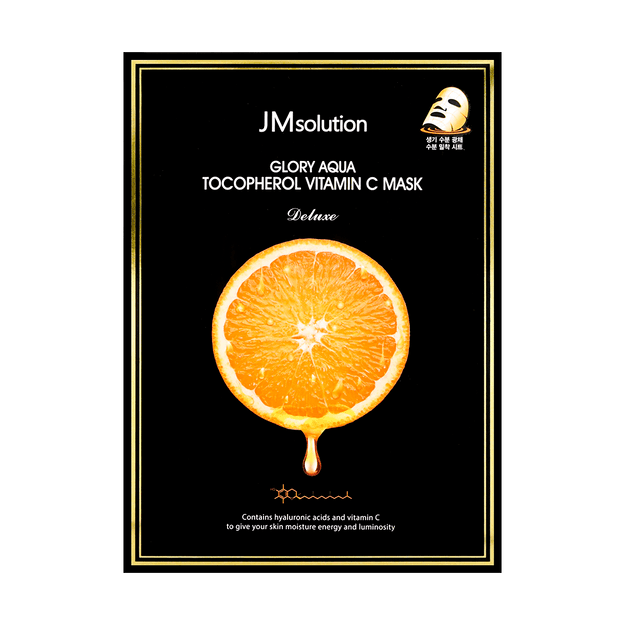 Product Detail - JM SOLUTION Glory Aqua Tocopherol Vitamin C Mask Deluxe 10 Sheets - image 0