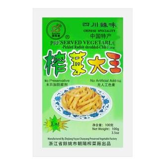 DA XING Preserved Vegetable Pickled Radish Shredded Chili Flavor 100g
