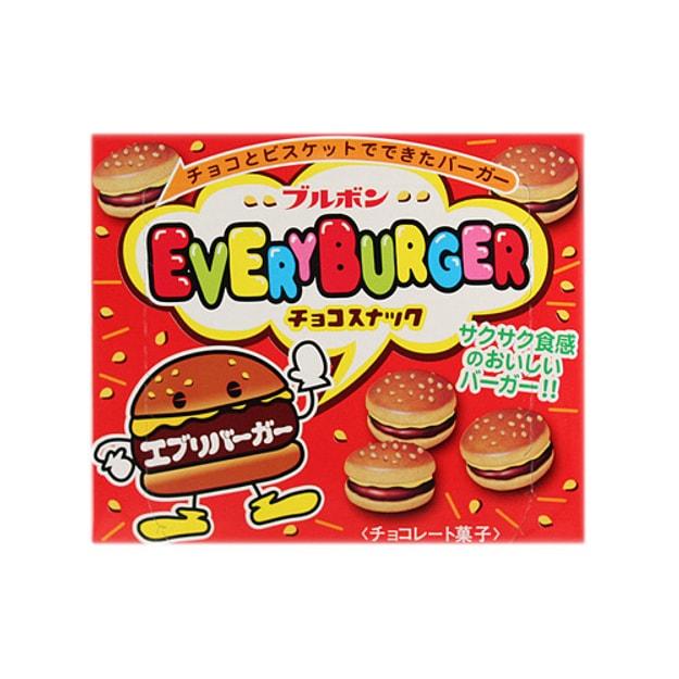 商品详情 - 日本BOURBON波路梦 迷你小汉堡巧克力夹心饼干 66g - image  0