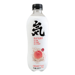 Genki Forest White Peach Soda Water 480ml