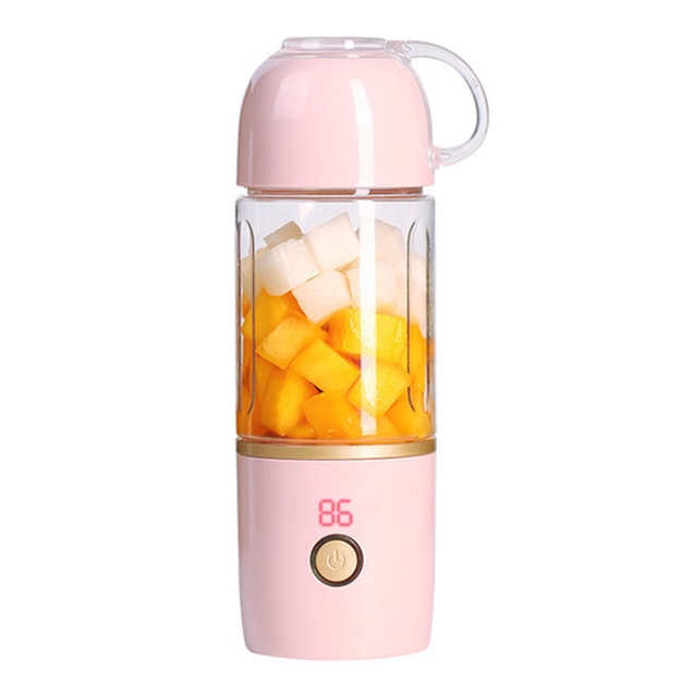 Product Detail - TIMESWOOD Mini Portable Electric Fruit Juicer Household Small Charging Portable Juice Machine 460ml Lotus Pink 1PC - image 0
