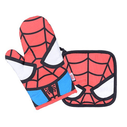 Miniso MARVEL-Cooking Mittens + Pot Holder  #Spider-Man