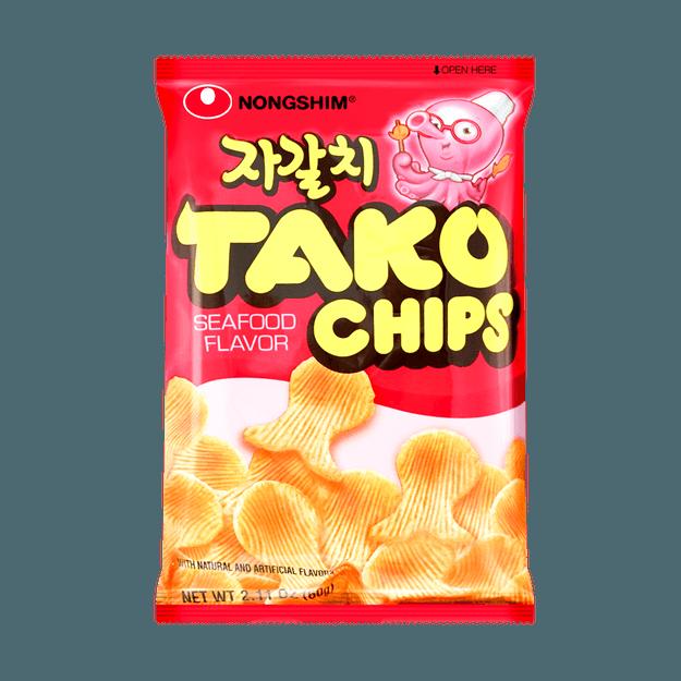 商品详情 - 韩国NONGSHIM农心 章鱼海鲜薯片 60g 包装随机发 - image  0