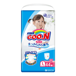 GOO.N Baby Diaper Pants for Girls Type L Size 9-14kg 44Pcs