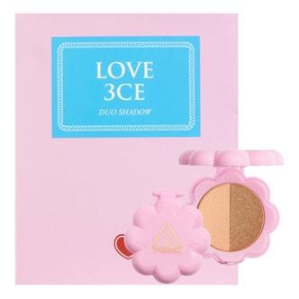 韩国3CE LOVE 贝壳双色眼影 #PIECE OF CAKE 3.2g
