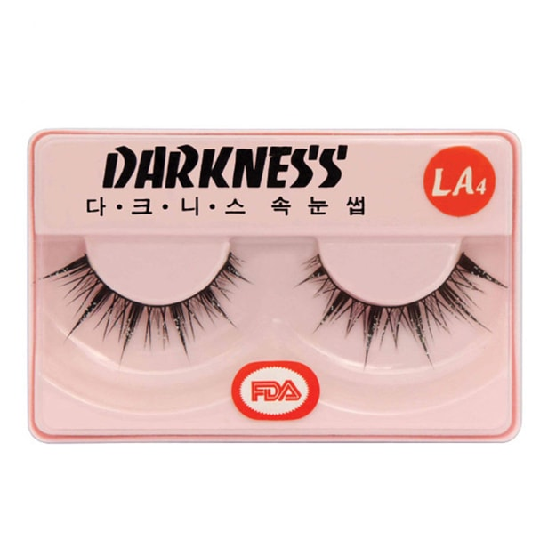 Product Detail - DARKNESS False Eyelashes #LA4 1Pair In 1Box - image 0