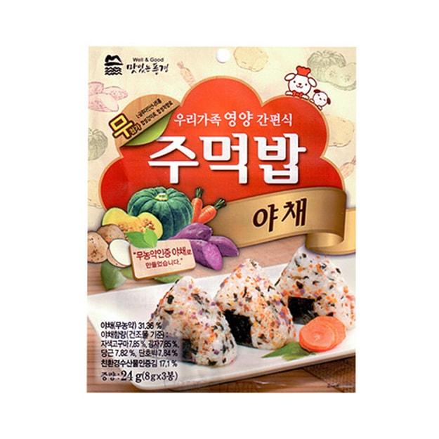 商品详情 - 韩国WANG Well & Good 蔬菜口味拌饭料 24g - image  0