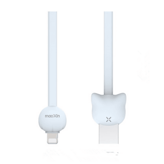 Product Detail - MAOXIN Vitality Cat Series USB Cable For iPhone Blue - image 0