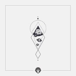 @BECOME Original Tattoo Stickers Geometric space One Piece