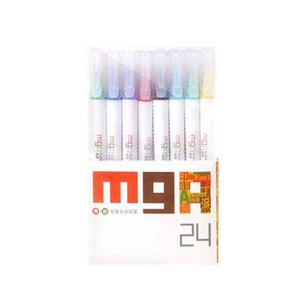 商品详情 - [中国直邮]晨光文具(M&G) ARTS毛笔头水彩笔24色ZCPN0207 - image  0