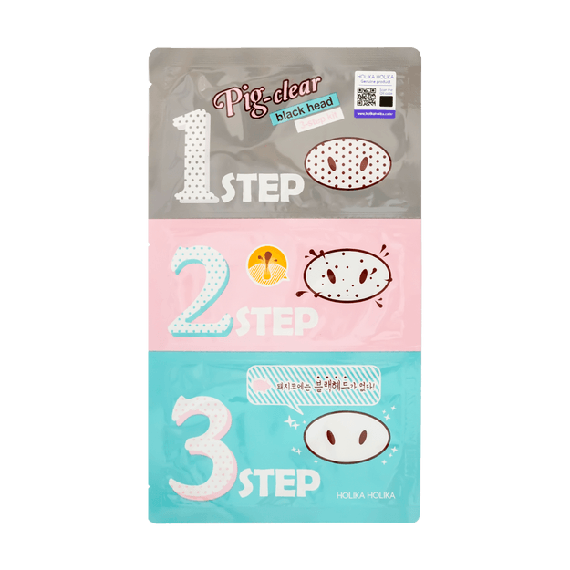 Product Detail - HOLIKA HOLIKA PIG-NOSE Clear Blackhead 3-STEP Kit - image 0