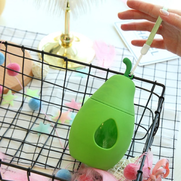 Product Detail - CAITONGCHANG Yali portable cute cup rope outdoor new fashion glass cup hand cup Green - image 0