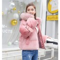 China direct mail JANE NA 2019 cute short thick cotton jacket loose jacket pink L code #1 piece