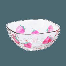 ISHIZUKA GLASS 石塚硝子||ADERIA 水果糖可爱日系方形碗||草莓图案 1个