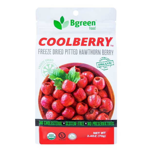 Product Detail - BIG GREEN Organic Hawthorn Berry(Freeze Dried) 70g - image 0