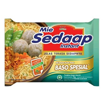 印尼SEDAAP喜达 肉丸干捞面  77g