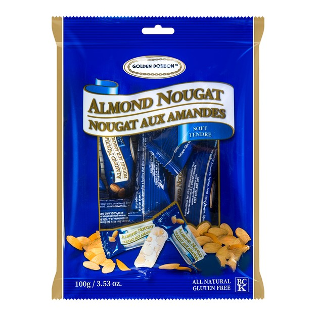 GOLDEN BONBON Soft Almond Nougat 100g