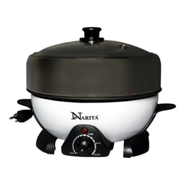 Narita Multi-function Hot Pot with Nonstick Grill Pan 2L NEC-202B (1 Year Mfg Warranty)