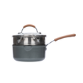网易严选多色可选多功能锅 一锅多用轻松烹饪 奶锅 (灰色)18cm+蒸笼