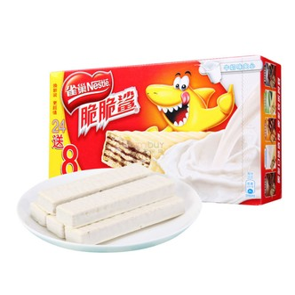 NESTLE雀巢 脆脆鲨 威化白巧克力 640g