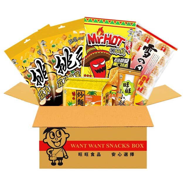 WANT WANT Spicy Snacks Set Shelly Shenbei Rice Crackers Instant noodles