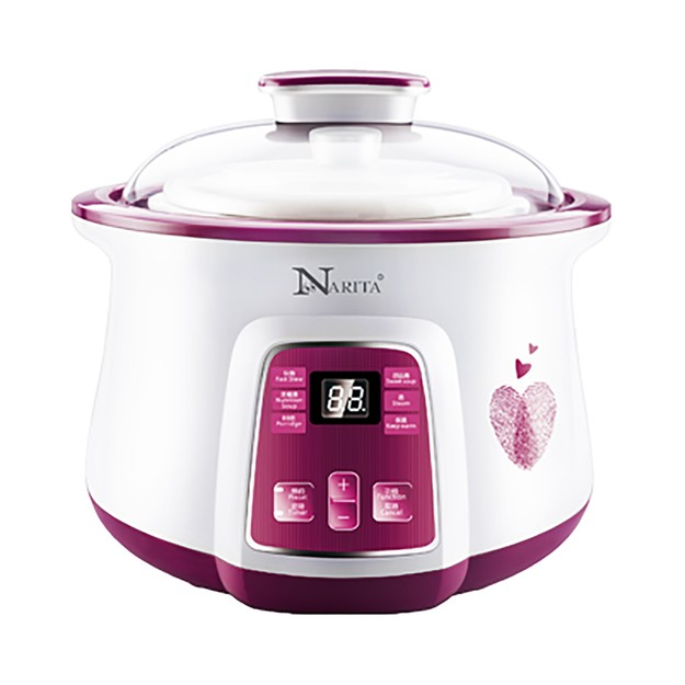 Product Detail - NARITA Multi Function Ceramic Pot Electric Stew Pot Slow Cooker 1.6L*1+0.5L*2 NSQ-1855 - image 0
