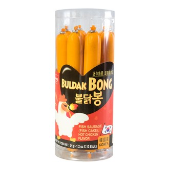 韩国WANG 美味鱼肠 辣鸡味 10根入 340g