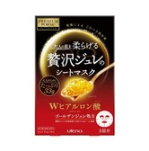 UTENA Premium Puresa Golden Jelly(GELEE) Mask Hyaluronic Acid 3sheets