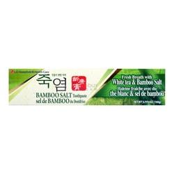韩国LG 天然植物配方清新竹盐牙膏 160g 保护牙龈 减少牙菌斑