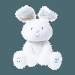 """【百年品牌】加拿大 GUND Flora 12"""" 可爱毛绒动物玩具 #兔子 带有音乐和捉迷藏功能 加拿大百年品牌 圣诞新年生日礼物"""